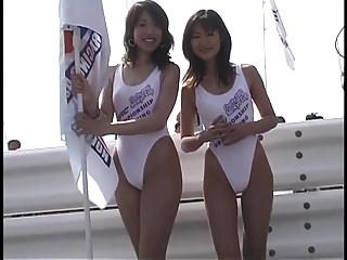 Japanese racequeen white leotard #3