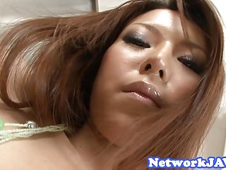 Orally pleasured asian milf gets doggystyled